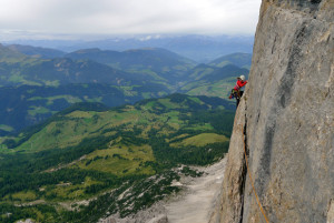 Climb with IFMGA certified mountain guides in the Dolomites. Rolando Rolo Garibotti, Steve House, Vince Anderson. Sella pass, Rock Climbing, Alpine Rock Climbing Italy.